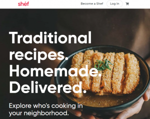 Shef has a multi-cultural meal delivery app